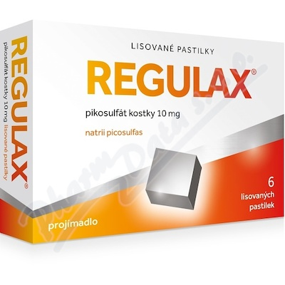 Regulax Pikosulfát kostky 10mg orm.pas.cmp.6x10mg